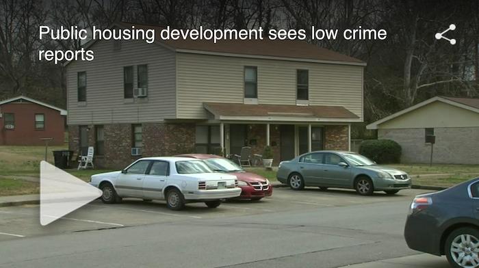 Public housing development sees low crime rate