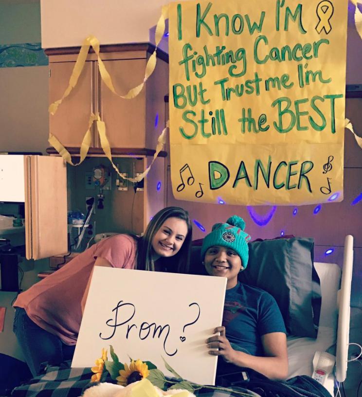 Franklin teen battling cancer surprises girlfriend with promposal