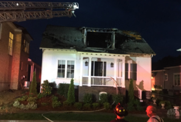 Franklin home damaged by fire