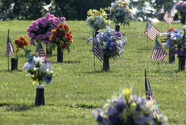 Veterans being honored by volunteers for Memorial Day