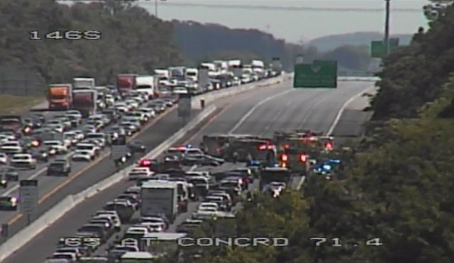 Crash Causes Major Traffic Delays on I-65 South in Williamson County