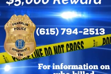 $5k reward for information in Franklin homicide