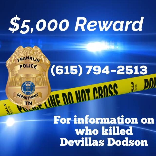 $5k reward for information in Franklin homicide