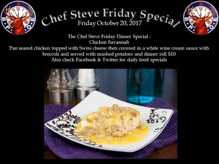 The Chef Steve Friday Dinner Special Coolspringscom