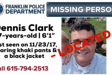 Police find missing Cool Springs man following tip from jogger