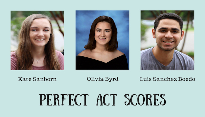 Three Franklin High Students Earn Perfect ACT Scores