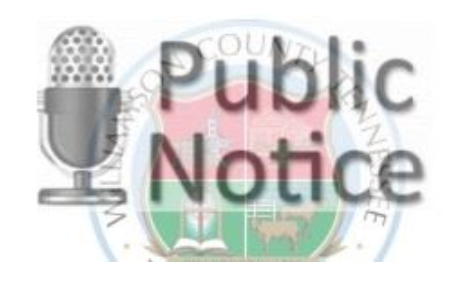 Public Notice – Board of Adjustments and Appeals