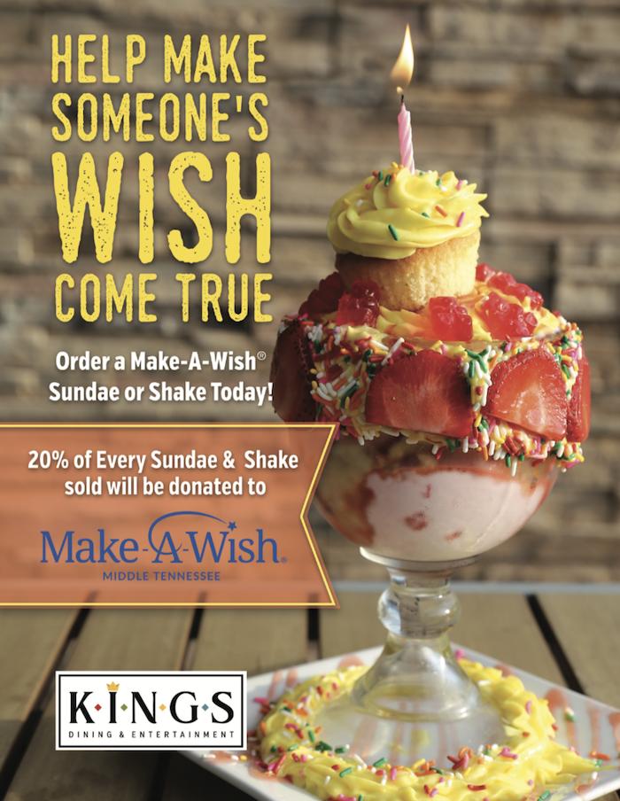 Make-A-Wish Sundae and Mega Shake